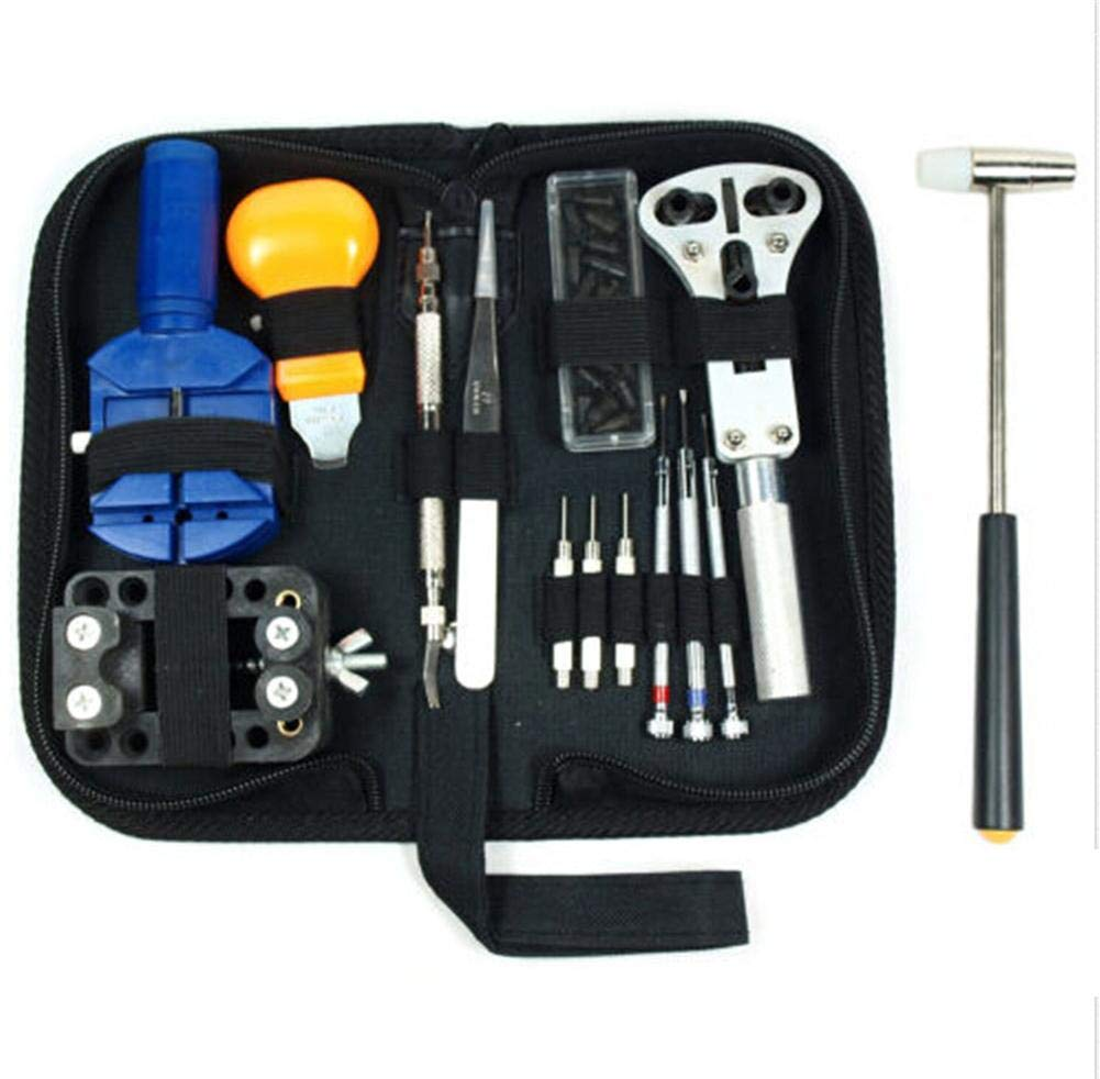 Watch Band Repair Tools Kit Professional Link Removal Tool Case Opener Spring Bar for Watch Battery Replacement, Pocket Watch, Tag Watch, Antique Watch, Citizen, Vintage Watch Repair - 14Pcs