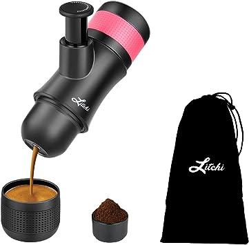 Máquina portátil de espresso por Litchi cafetera de viaje manual 3 ...