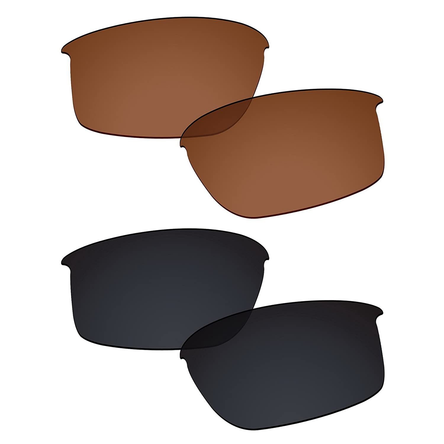 59a0a316b5 Amazon.com  Galvanic Replacement Lenses for Oakley Bottle Rocket Sunglasses  - Amber + Black Polarized - Combo Pack  Clothing