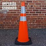 Traffic Cones - Safety Cones - 36'' Orange Cones with 2 Reflective Collars - Construction Cones - Road Cones - Parking Cones - Street Cone (8 pack)