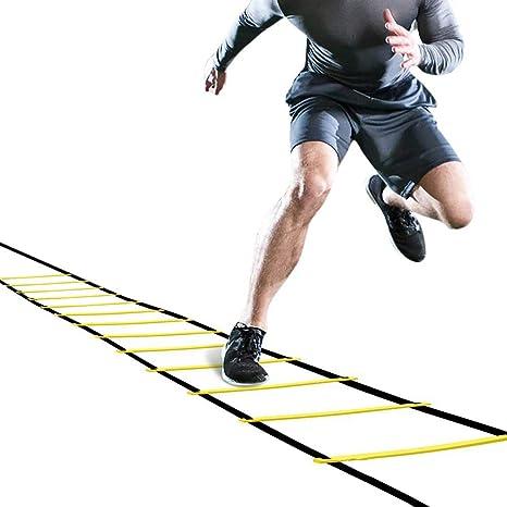 Winmany - Escalera de agilidad para entrenamiento de fútbol, rugby, baloncesto, escalera, escalera, entrenamiento para actividades al aire libre, 7 m 13 escalera: Amazon.es: Deportes y aire libre
