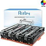 Airby® CF400X CF401X CF402X CF403X Cartucho de Tóner 201X Compatible Para HP Color LaserJet Pro MFP M277dw, M252dw, MFP M277n, M252n, De Alto Rendimiento 4 Pack (Negro, Cian, Amarillo, Magenta)