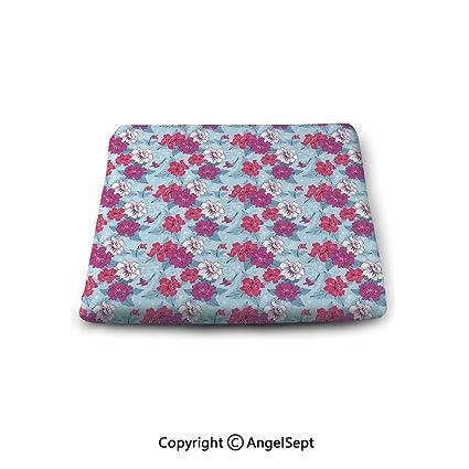 Amazon.com : oobon Non-Slip Cushion Square Chair Pad, Floral ...