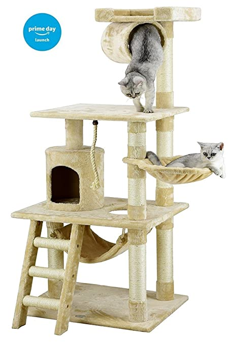 Go Pet Club Árbol para gato con mueble tipo apartamento, 157 cm ...
