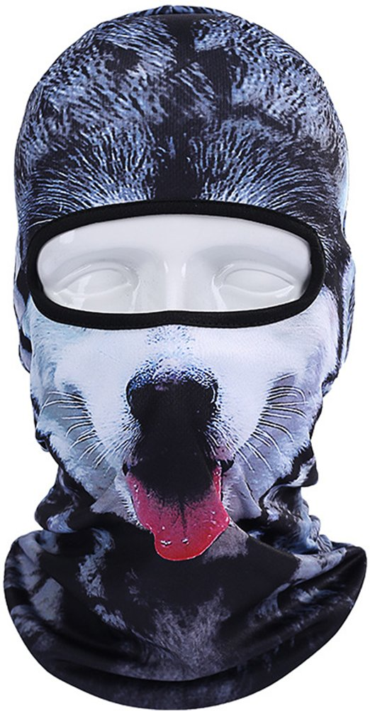 Betwoo Polyester Animal Balaclava Hood Full Face Mask Hats for Motorcycle/Cycling (Dog 1) by Betwoo (Image #1)
