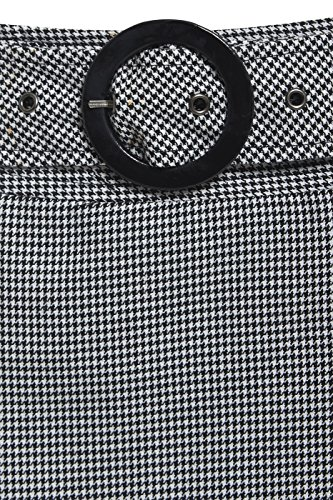 femmes mini 8 SS7 fte VICHY Noir Blanc jupe TAILLE 14 fBw1HxxSq
