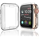 [2-Pack] Julk Case for Apple Watch Series 6 / SE/Series 5 / Series 4 Screen Protector 44mm, Overall Protective Case TPU HD Cl