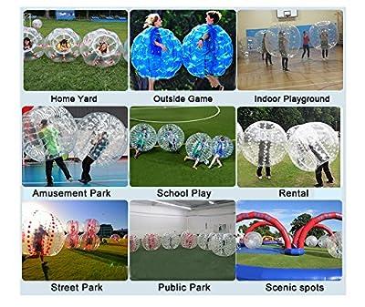RACPLUS 1.5M/4.9FT Human Knocker ball inflatable Bumper Bubble Soccer Zorb Ball for Adult