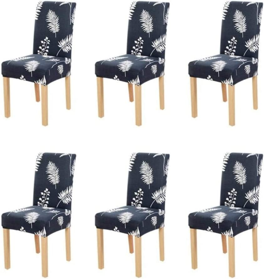 Miougioewq Printing Stretch Chair Cover Big Elastic Seat Chair Covers Painting Slipcovers Restaurant Banquet Hotel Home,Blue Bell Peacock