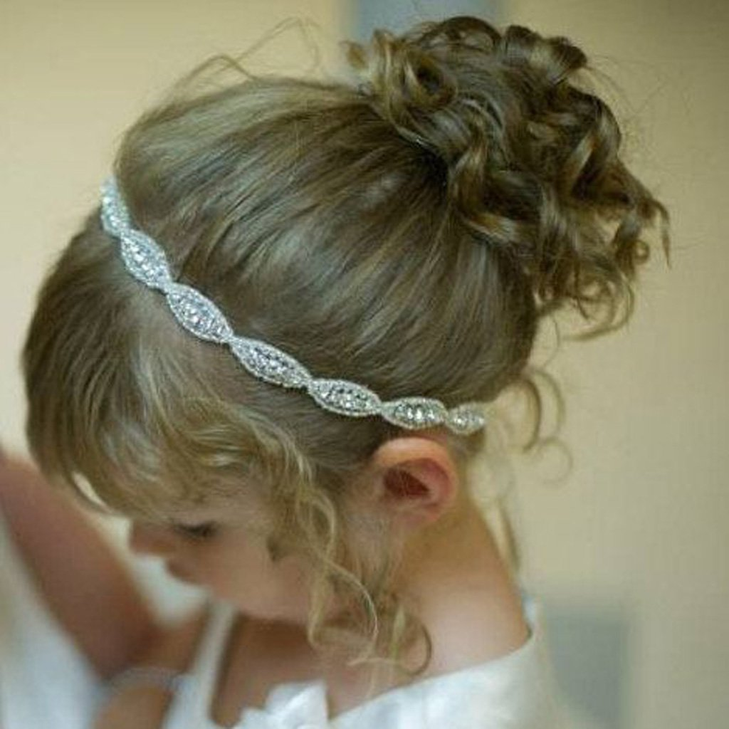 Baby Girls Kids Elastic Hair Band Rhinestone Beads Headband
