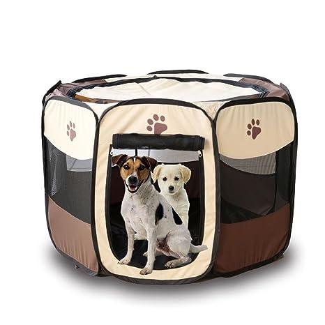 meisijia tienda Pet portátil plegable para perro Jaula Casa Perro Gato tienda valla cachorro kenneles exterior