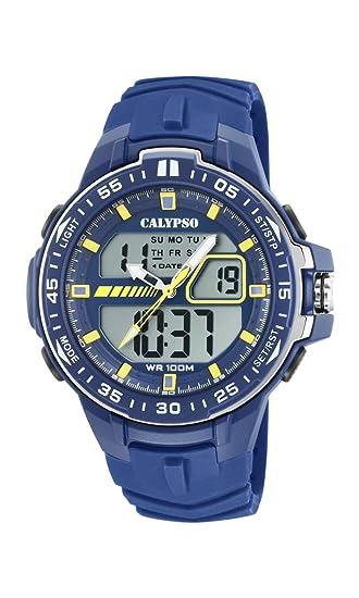 Calypso Watches Reloj Analógico-Digital para Hombre de Cuarzo con Correa en Plástico K5766/1: Amazon.es: Relojes