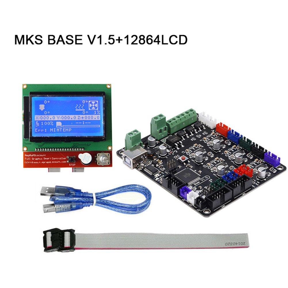 lzndeal impresora 3d parte MKS Base V1.5 tarjeta madre + 12864 Kit ...
