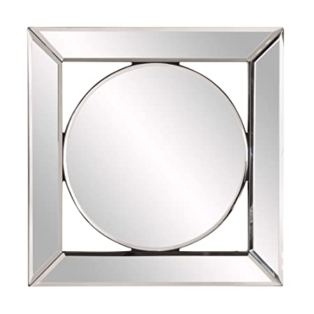 Howard Elliott Lula Square Hanging Accent Wall Mirror, Mirrored Frame, 12 x 12 Inch