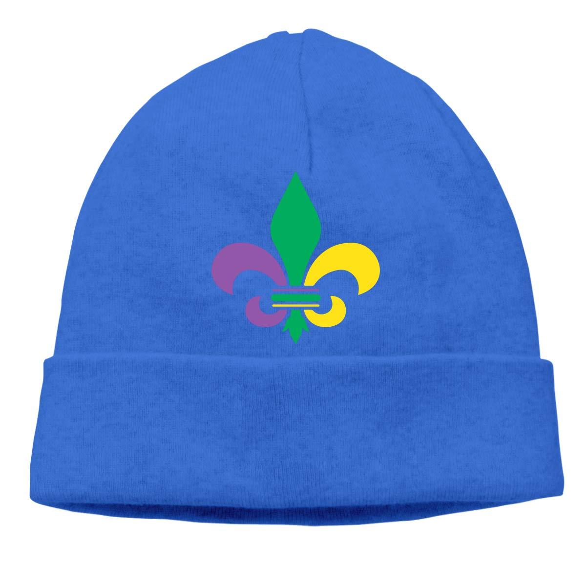 Beanie Hat Mardi Gras Fleur De Lis Warm Skull Caps for Men and Women