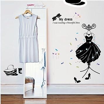 mode boutiquen dekoration vovotrade mein kleid wand aufkleber abziehbilder art pvc wand poster diy familien