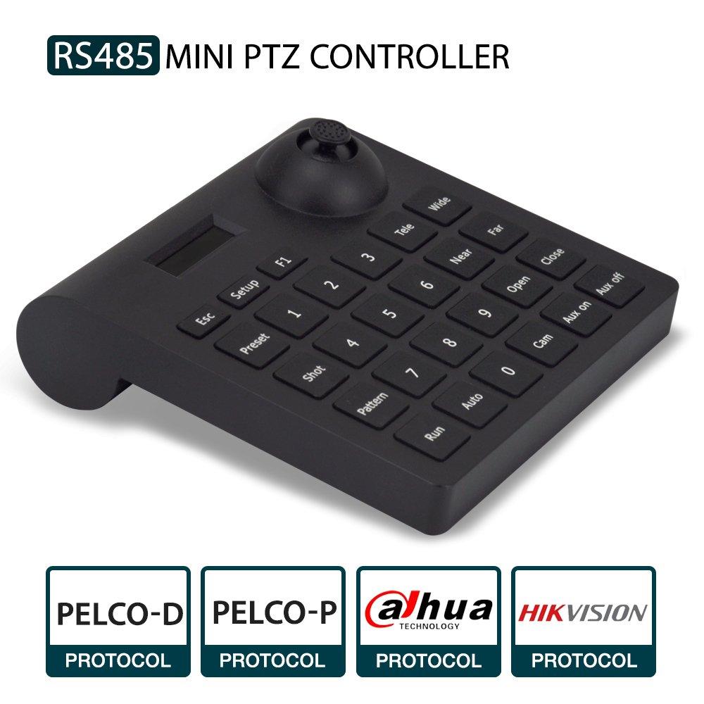 PTZ Keyboard,LEFTEK Analog Camera RS485 Controller Mini PTZ Jorystick With LCD Screen Display Menu