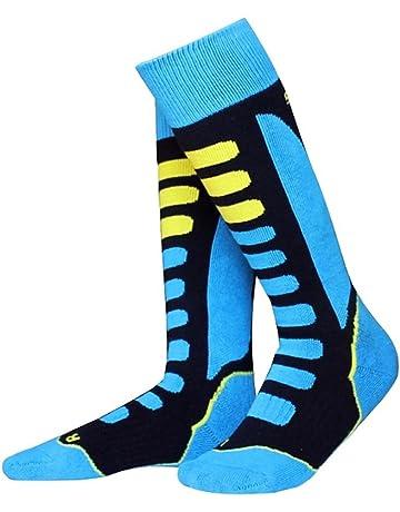 Barrageon Calcetines de Esquí de Invierno Térmico Calientes para Esquiar, Snowboard, Senderismo, Ciclismo