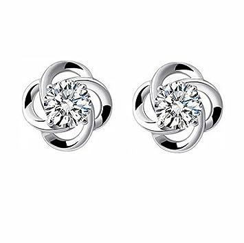 Charming Women's Sterling Silver Ear Hoop Earrings Ear Stud by BByu EaXbabS