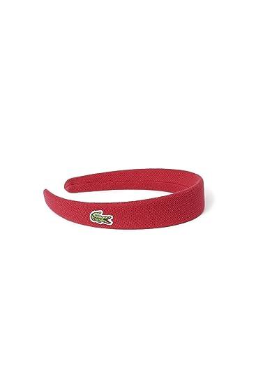 Amazon.com  Lacoste Women s Pique Headband One   Eurtu Lacquer Red ... 3e4847ac095