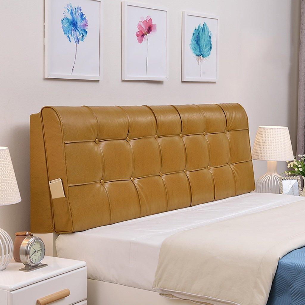 QIANGDA クッション ベッドの背もたれベッド背もたれポジショニングサポートピローベッドクッション取り外し可能なソフトアンチリンクル、5色6サイズ使用可能 ( 色 : Rich gold , サイズ さいず : 200*58*10cm ) B0794XSSM1 200*58*10cm Rich gold Rich gold 200*58*10cm