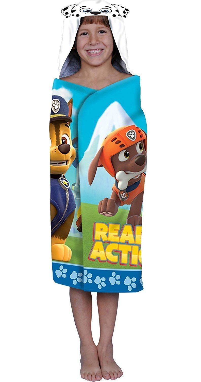 Nickelodeon Paw Patrol Hooded Bath Towel Wrap, Marshall 3-D Ears
