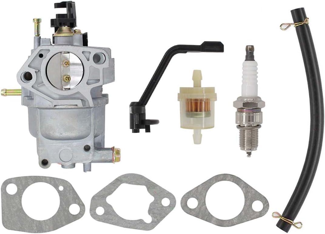 Amazon.com : MOTOKU Carburetor Spark Plug Fuel Filter Carb Kit for Generac  GP6500 GP6500E GP7500E GP5500 8125W Generator Watts Replaces 0J58620157  Also Fits Jingke Huayi Kinzo Ruixing Xieli : Garden & OutdoorAmazon.com