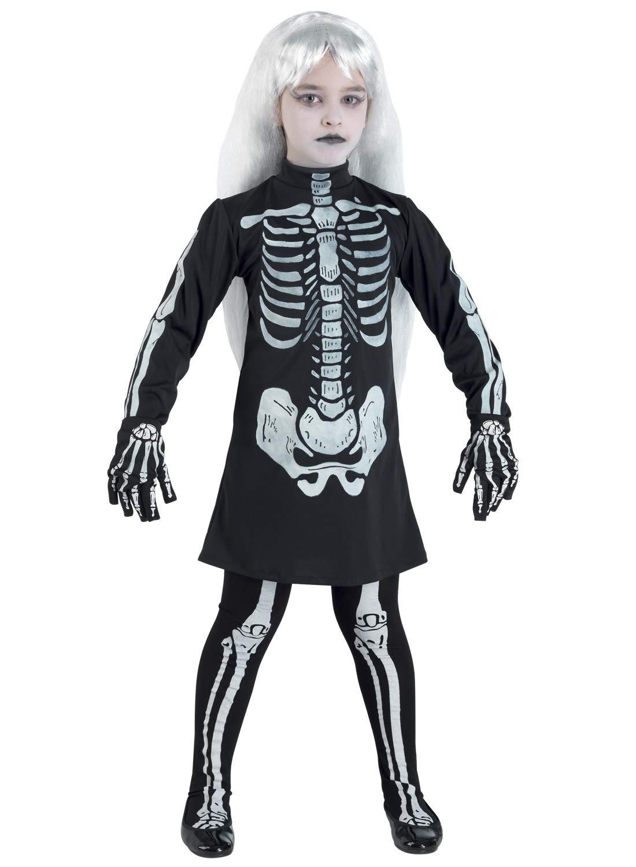 Clown Republic 57712/12 - Disfraz de esqueleto para niña ...