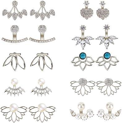 Lot de 12 paires de boucles d/'oreilles couleurs revendeur Bijoux FRANCE
