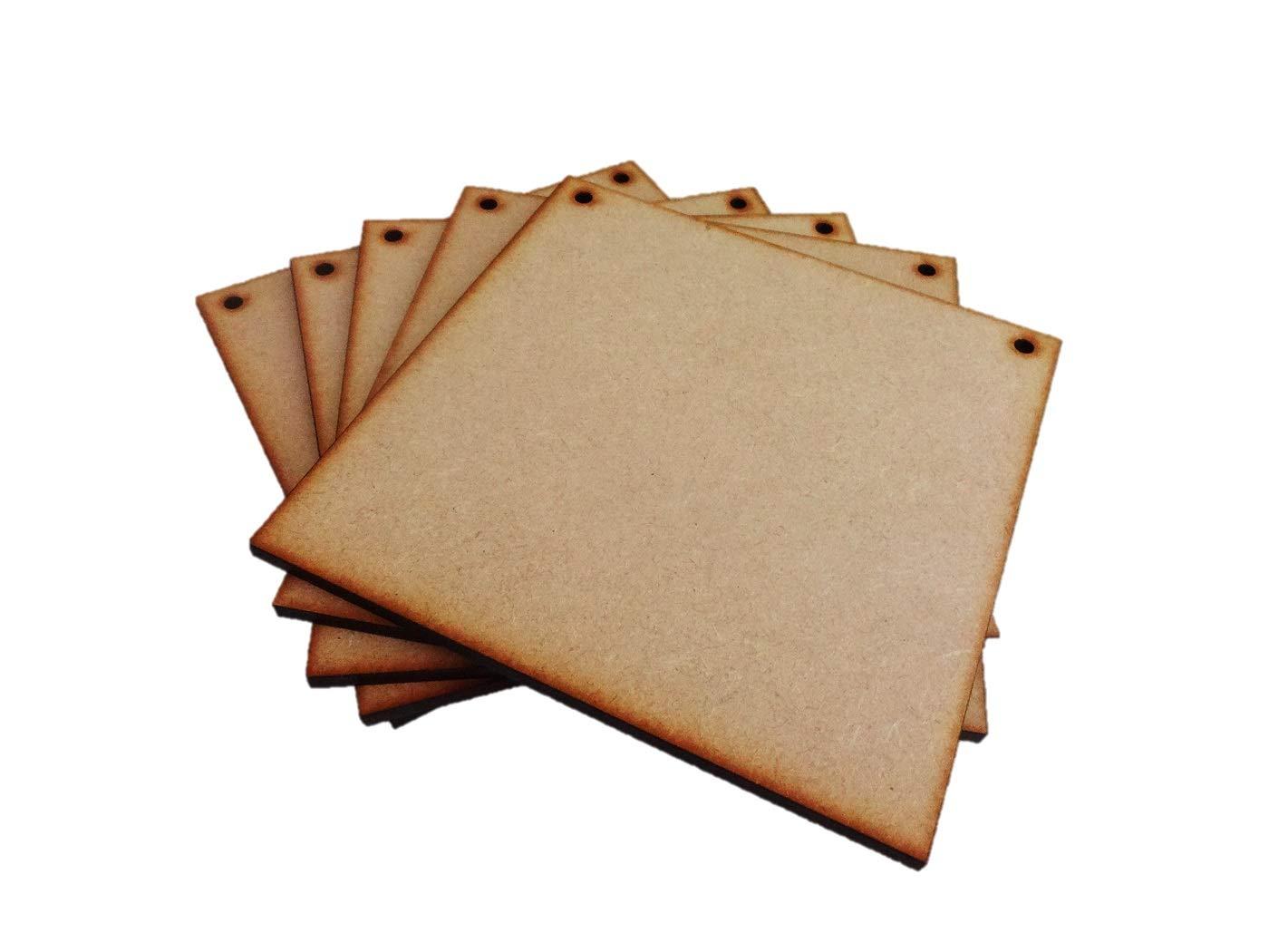 Confezione da 5 targhe//cartelli Quadrati in MDF 20 x 20 cm Parley Crafts