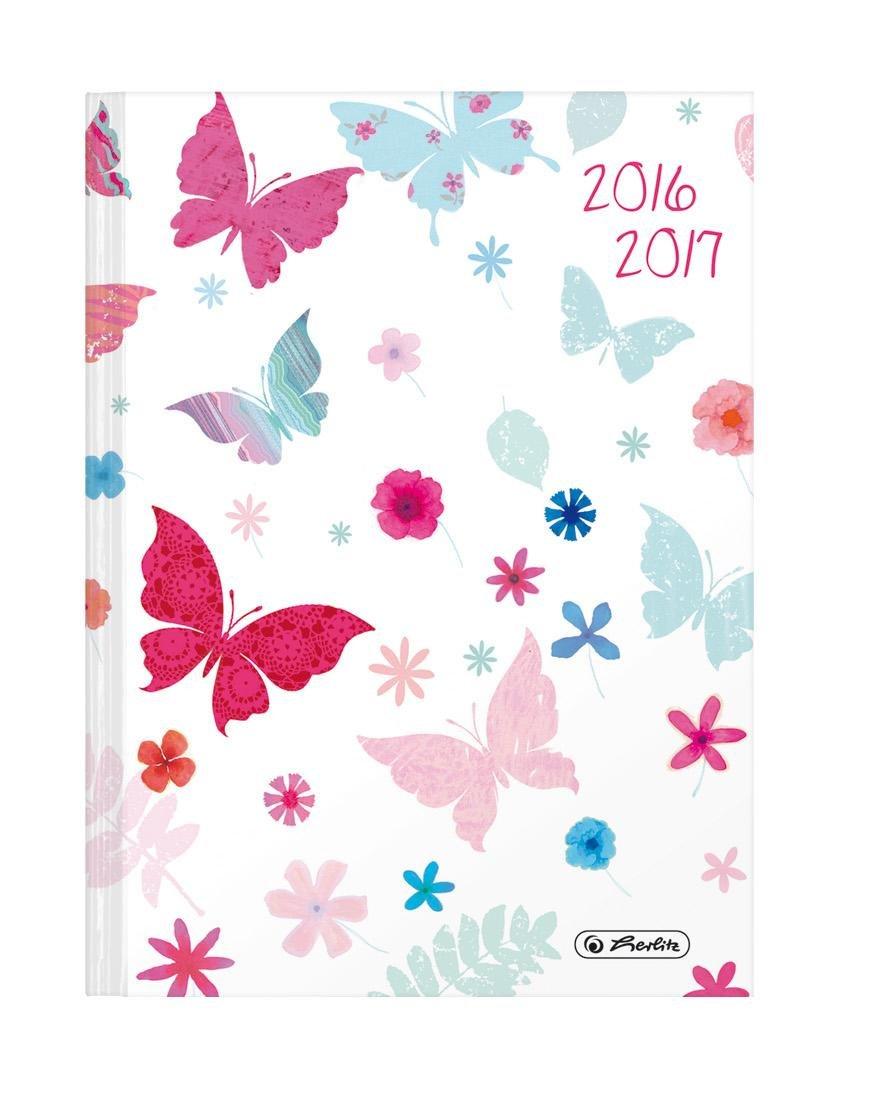 Herlitz-Agenda de escolar/Agenda escolar (2016-2017/Mariposas