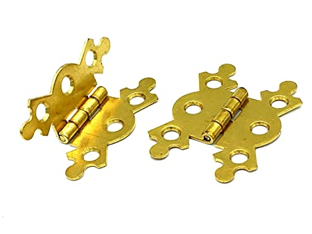 pair of Brass Plated Butterfly Hinge 40mm