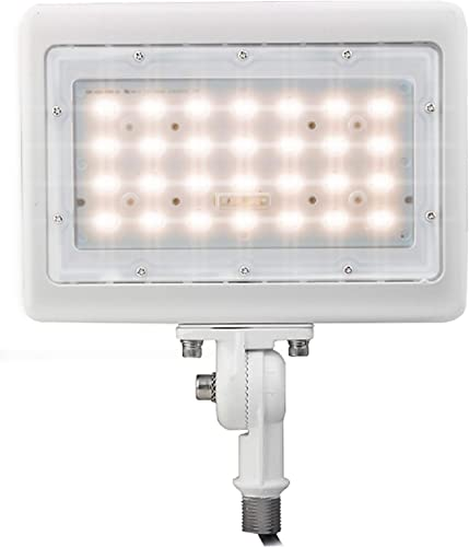LED Flood Light Outdoor Waterproof Fixture 1 2 Knuckle Mount 10 YR Warranty Solution for Landscape Security Lighting 50W 250W Equivalent 7,048 LMS 100-277V 50,000 Life Hours Warm White 3000K