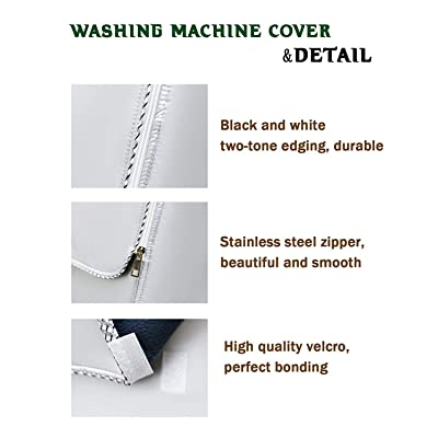 XL//XXL Washing Machine Cover Waterproof Dustproof For Front Load Washer //Dryer