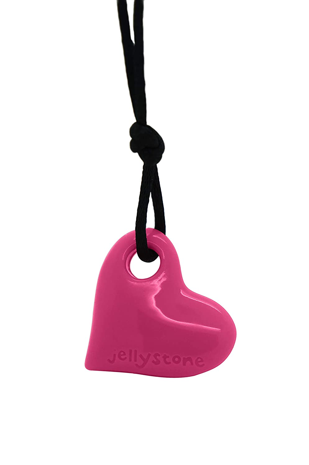 4caf2170a7484 Jellystone Junior Heart Pendant Silicone Non-Toxic Chewelry Necklace  (Watermelon Pink)