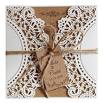 Amazon Com Picky Bride Rustic Wedding Invitations Sample