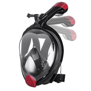 Nanle 2018 Máscaras de buceo con máscara de snorkel más nuevas con vista panorámica de 180