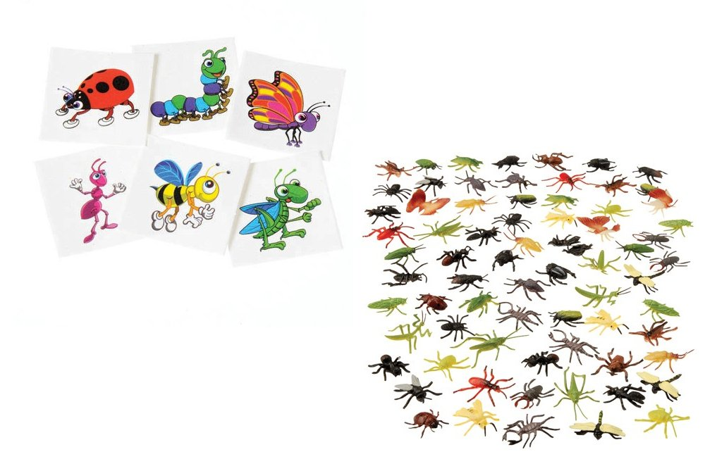 Amazon.com: Kid Fun Assorted Insects & Temporary Tattoo Toy Party ...