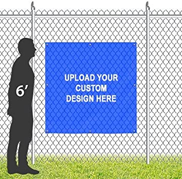 8x8 Ghost Aged Blue Wind-Resistant Outdoor Mesh Vinyl Banner Grand Opening CGSignLab