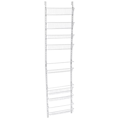 Home-Complete Over the Door Organizer-Space Saving Hanging Storage Shelves for Kitchen, Pantry, Closet-For Spices, Jars, Cleaning Products and More