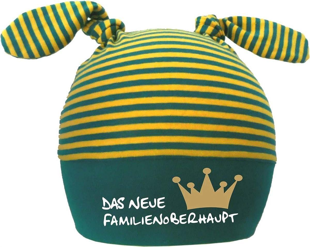KLEINER FRATZ 2-Zipfel Baby M/ütze Kinder Jungen M/ädchen Babym/ütze Hat Neues Familienoberhaupt