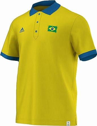 Adidas WC 2014 Brasil Polo para Hombre - Amarillo, Hombre ...