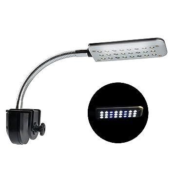 NICREW LED Clip Luces de Acuario , 36 LED Acuario Peces Tanque Abrazadera Clip Lámpara Luz con Luz Azul y Blanca, 2W: Amazon.es: Productos para mascotas
