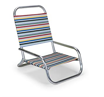 Telescope Casual Sun and Sand Folding Beach Chair, Classic Stripe