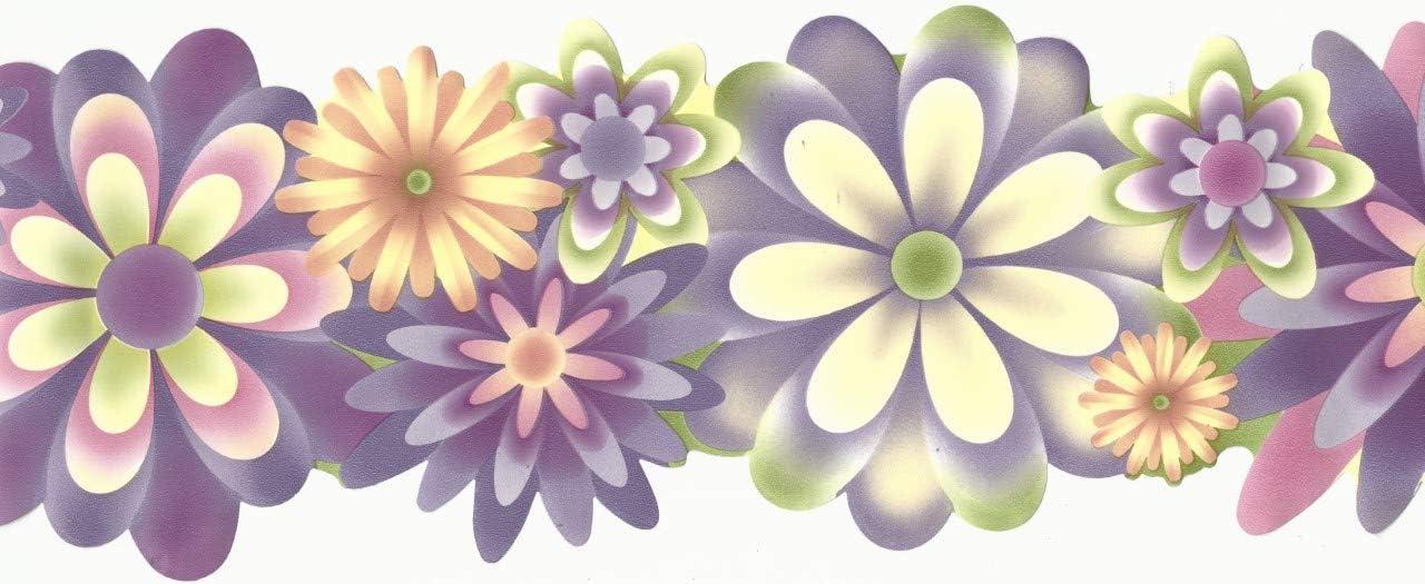 Chesapeake s Crazy About Kids Bord/üre Flower Power Lavendel Pink Gr/ün Orange Gelb Doppel Stanzform