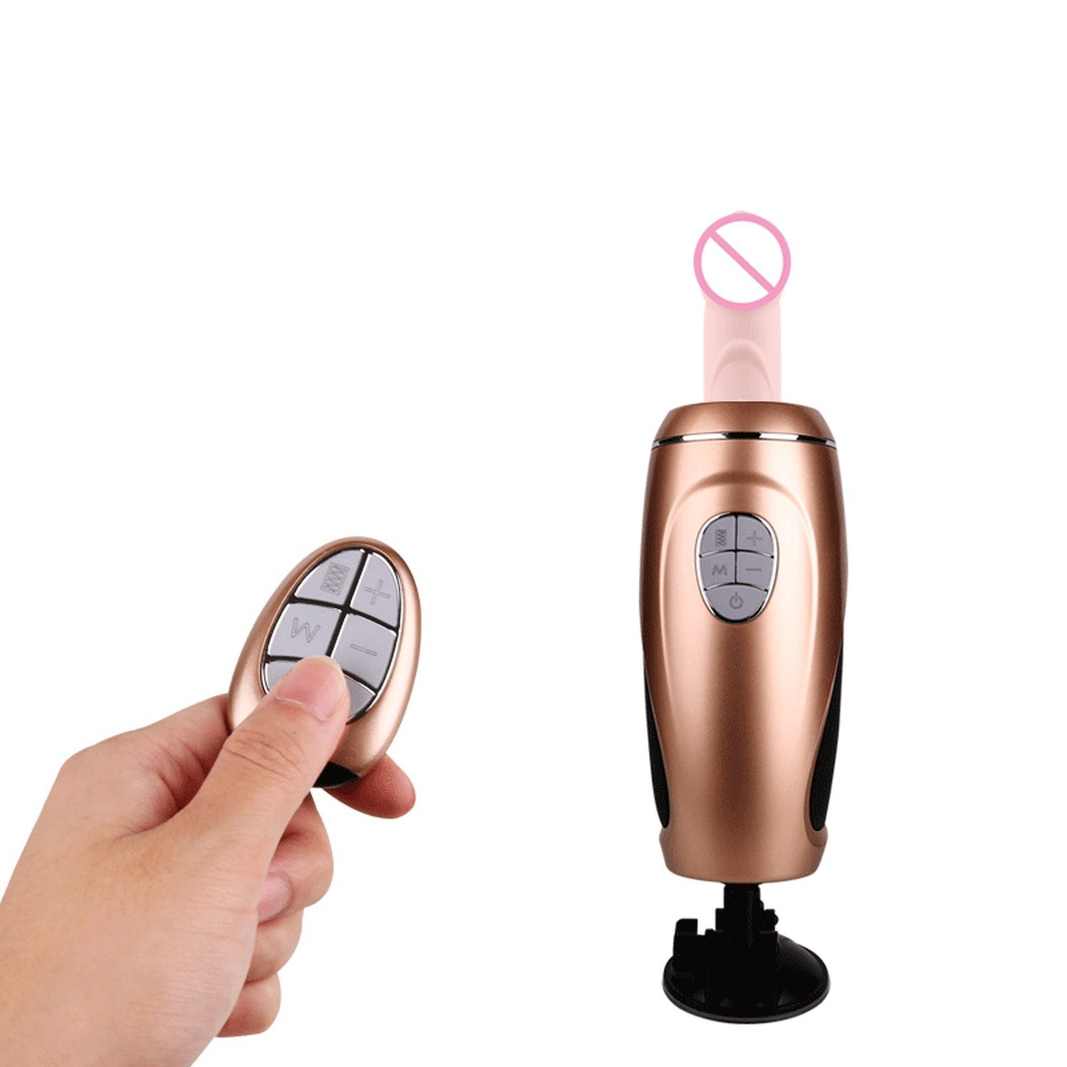 USEXMTY S-Tshirt Adult Toys ORGAT Remote Control Sex Machine Gun Automatic Thrusting P-énis Vibrator Suction Cup Female Masturbation Adult Seeex-Toys for Woman,Gold Cleverly by USEXMTY S-Tshirt (Image #3)