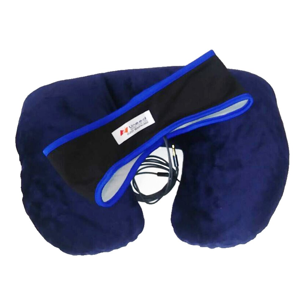 Easy Travel Ultimate Comfort Two-Way Pillow and Sleep Headphones Headband for Airplane, Train, Car Travel and Everyday Use