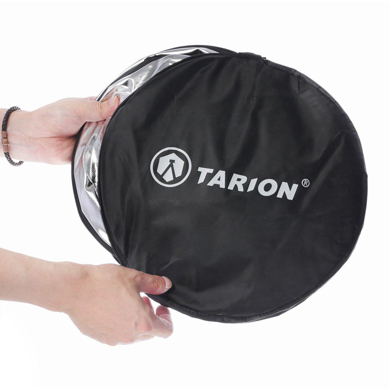 TARION 5 in 1 110cm Riflettore pieghevole professionale traslucido argento bianco nero oro