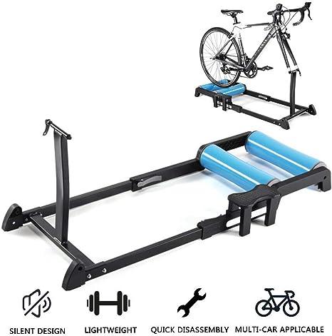 SLRMKK Bicicleta Turbo Trainer, Bicicleta Rodillos Plegable ...