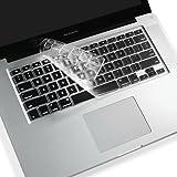 【US配列キーボード専用】 MacBook Air/MacBook Pro キーボードカバー クリアー TPU/シリコン素材 13インチ/15インチ用